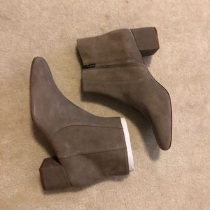 "NWT Madewell suede boots in ""new pebble"""